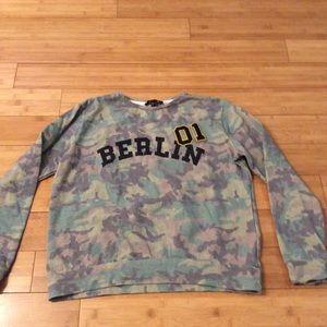 Camouflage sweatshirt by atmosphere size medium